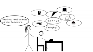 doing homework comic